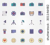 photography colorful icons  ...