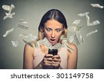 technology online banking money ... | Shutterstock . vector #301149758