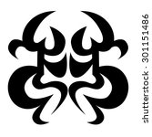 tattoo tribal vector designs.... | Shutterstock .eps vector #301151486