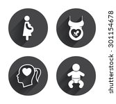 maternity icons. baby infant ...   Shutterstock .eps vector #301154678