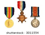 World War One Medals.  Victory...