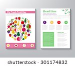 brochure flyer design vector... | Shutterstock .eps vector #301174832