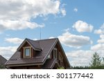 country wooden house in a... | Shutterstock . vector #301177442