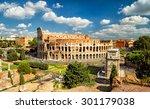 colosseum  coliseum  in rome ... | Shutterstock . vector #301179038