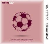 soccer ball icon | Shutterstock .eps vector #301186706