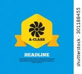 a class ventilation icon.... | Shutterstock .eps vector #301188455