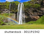 Seljalandsfoss Waterfall In...