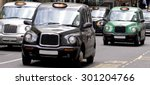 Five London Taxi Cabs In Canar...