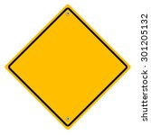 yellow metal sign. | Shutterstock . vector #301205132