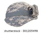 Kevlar Helmet With A Camouflag...