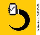 flat selfie icon vector... | Shutterstock .eps vector #301208678
