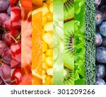 color fruits  berries and... | Shutterstock . vector #301209266