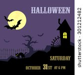 vector halloween background... | Shutterstock .eps vector #301212482