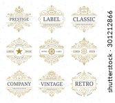 vintage luxury logo template... | Shutterstock .eps vector #301212866