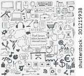 hand drawn sketch icons for... | Shutterstock .eps vector #301215938