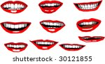 mouth   smile variations ... | Shutterstock .eps vector #30121855