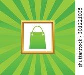 image of shopping bag in golden ...