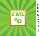text cms and two gears in...