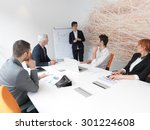 business people group on... | Shutterstock . vector #301224608