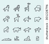 set of animal icon. | Shutterstock .eps vector #301228796