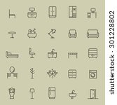 set of furniture icon. | Shutterstock .eps vector #301228802