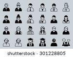 set of people icon. | Shutterstock .eps vector #301228805