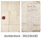 Old Handwritten Letter. Antiqu...