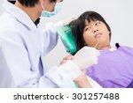little girl sitting in the... | Shutterstock . vector #301257488