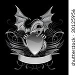 mystery dragon winged upon the... | Shutterstock .eps vector #30125956