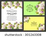 romantic invitation. wedding ... | Shutterstock .eps vector #301263308