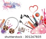 cosmetics  and fashion... | Shutterstock .eps vector #301267835
