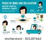 peace of mind to relax healthy... | Shutterstock .eps vector #301287662