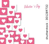 valentines day card | Shutterstock .eps vector #301289732