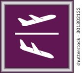 airplane sign icon  vector... | Shutterstock .eps vector #301302122