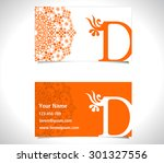 business card with alphabet... | Shutterstock .eps vector #301327556