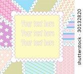 patchwork frame | Shutterstock .eps vector #30132820