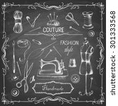 set of needlework   scissors ...   Shutterstock .eps vector #301333568