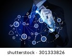 close up of businessman drawing ...   Shutterstock . vector #301333826