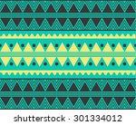 vector tribal ethnic pattern  | Shutterstock .eps vector #301334012