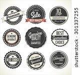 premium  quality retro vintage... | Shutterstock .eps vector #301337255