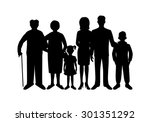 big happy family. father ...   Shutterstock . vector #301351292
