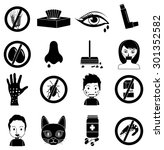 allergies icons set | Shutterstock .eps vector #301352582