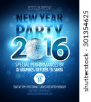 happy new year party poster.... | Shutterstock .eps vector #301354625