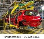 car production line | Shutterstock . vector #301356368