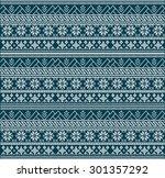 fair pattern sweater design on... | Shutterstock .eps vector #301357292