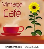 Sunflower Cafe Menu Template