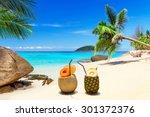 Drinks On The Tropical Beach O...