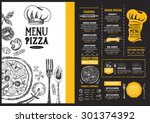 restaurant cafe menu  template... | Shutterstock .eps vector #301374392