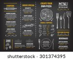restaurant cafe menu  template... | Shutterstock .eps vector #301374395