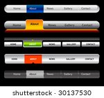 web navigation templates | Shutterstock .eps vector #30137530